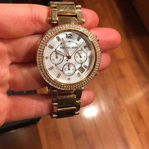 Michael Kors Rose Gold Mother of Pearl Watch